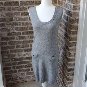J. Crew Cashmere Wool Blend Gray Pocket Dress
